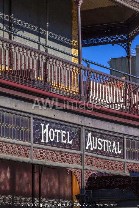 Australia, South Australia, Adelaide, Rundle Street, Hotel Austral, sign