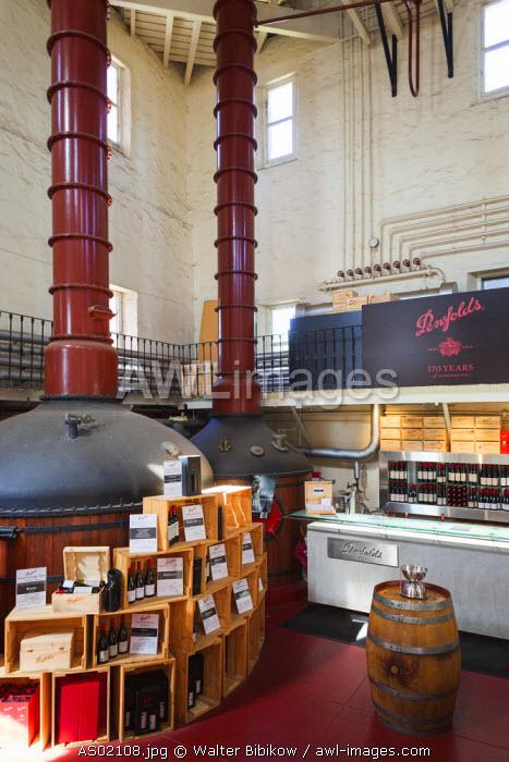 Australia, South Australia, Adelaide-MacGill, Penfolds Magil Estate Winery, oldest winery in South Australia, cellar door, wine tasting room