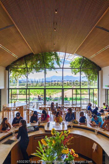 Australia, Victoria, VIC, Yarra Valley, Coldstream, Domaine Chandon Winery, interior wine tasting area