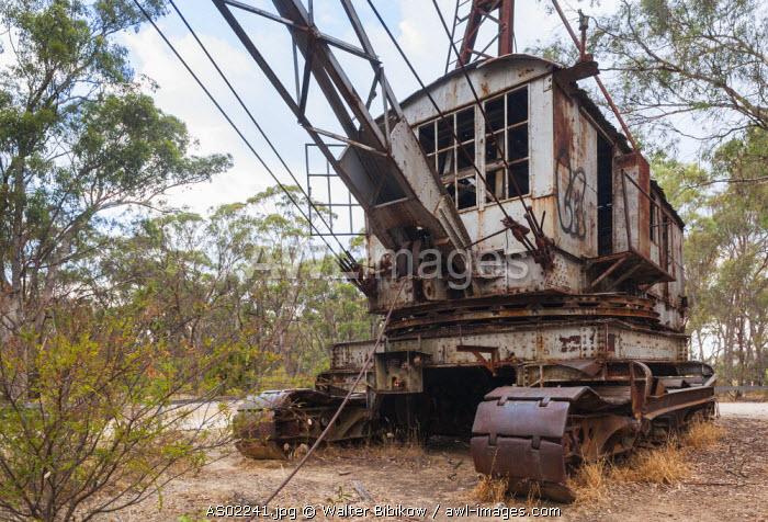 Australia, Victoria, VIC, Castlemaine, old gold mine dredging machinery