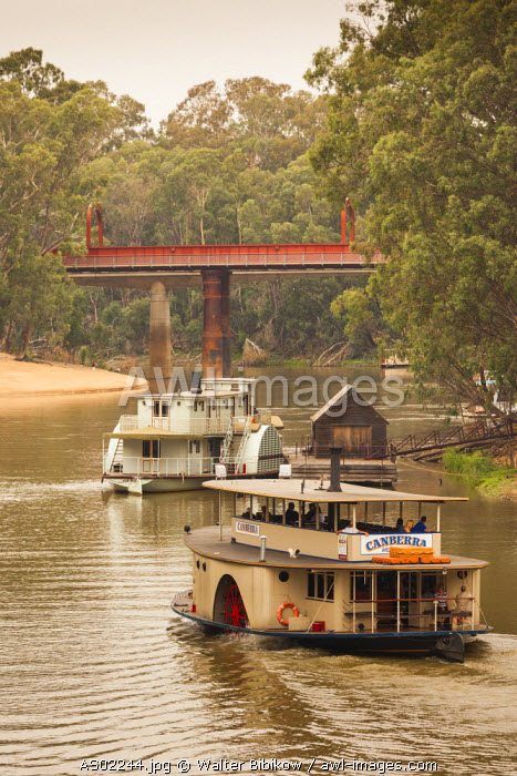 Australia, Victoria, VIC, Echuca, Historic Port of Echuca, Murray River, steam powered river boats