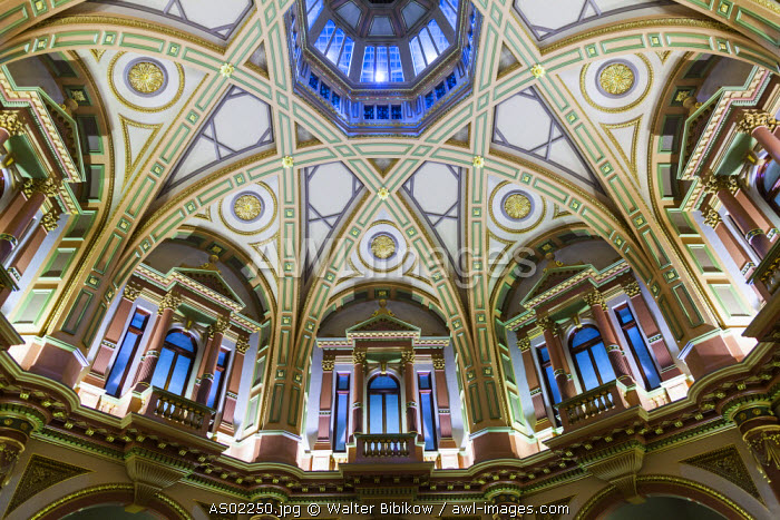 Australia, Victoria, VIC, Melbourne, 333 Collins Street, interior ceiling view
