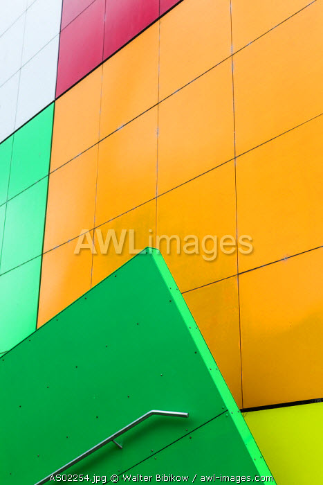 Australia, Victoria, VIC, Melbourne, Carlton, Melbourne Museum, multi-colored theater exterior