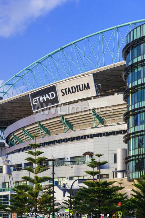 Australia, Victoria, VIC, Melbourne, Docklands, Victoria Harbour, Harbour Town Complex, Etihad Stadium