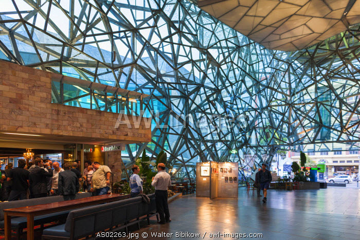 Australia, Victoria, VIC, Melbourne, Federation Square, The Atrium, interior