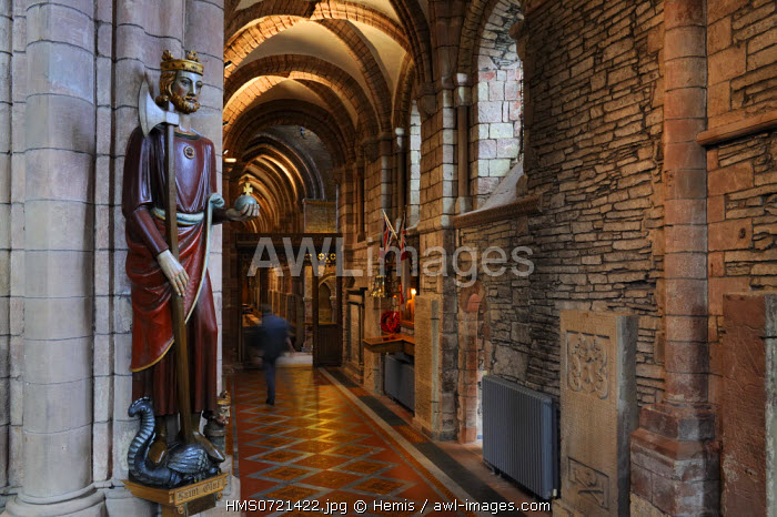 United Kingdom, Scotland, Orkney Islands, Mainland, town of Kirkwall, Saint-Magnus cathedral, Saint Olaf