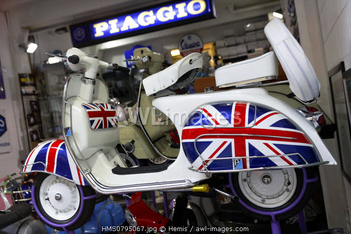 United Kingdom, London, scooter store