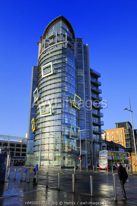 United Kingdom, Northern Ireland, Belfast, the waterfront on the Lagan riverside, the building The Boat
