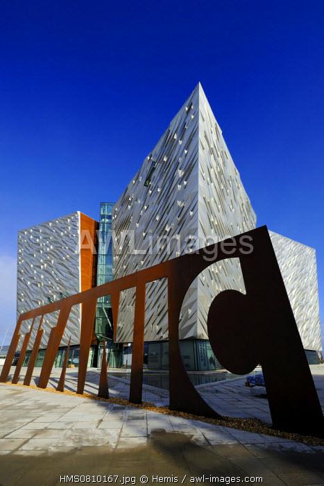 United Kingdom, Northern Ireland, Belfast, docks district of Queen's Island, the Titanic Belfast Experience center