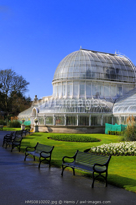 United Kingdom, Northern Ireland, Belfast, the Palm House at the Botanic Gardens