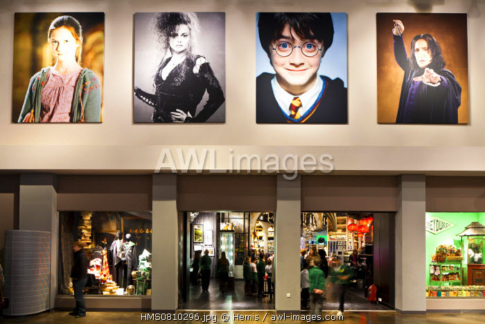 United Kingdom, London, Hertfordshire, Leavesden, Leavesden Film Studios, Harry Potter Studio Tour London, the scene of the eight Harry Potter movies' making of, souvenirs shop