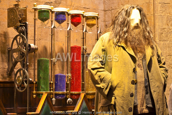 United Kingdom, London, Hertfordshire, Leavesden, Leavesden Film Studios, Harry Potter Studio Tour London, the scene of the eight Harry Potter movies' making of, Hagrid's costume