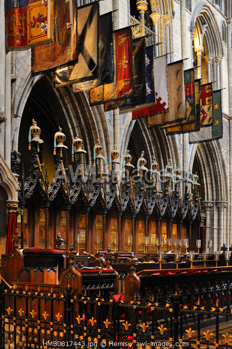 Ireland, Dublin, St Patrick's Cathedral, Stalls of the knights of St Patrick, order of chivalry established by king George III