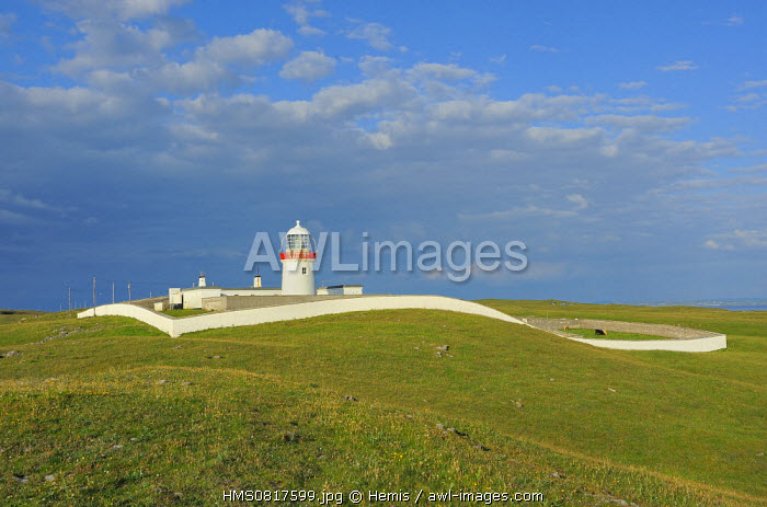 Ireland, County Donegal, St John's point lighthouse