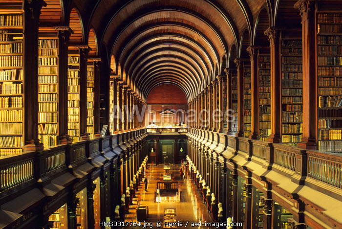 Ireland, Dublin, Trinity College, The library