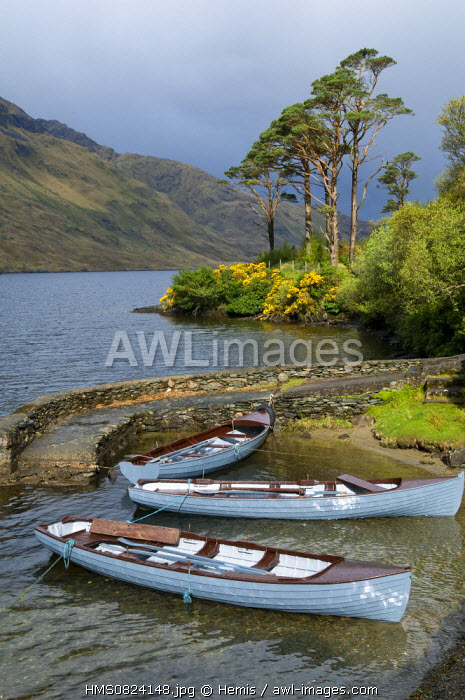 Republic of Ireland, Connacht Province, County Mayo, Doo Lough Lake from little road of Doolough Pass, near Delfi