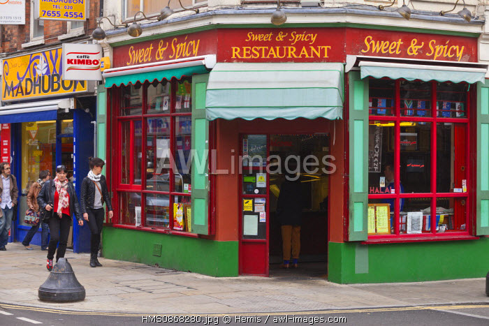 United Kingdom, London, East End district, Brick Lane Indian restaurant