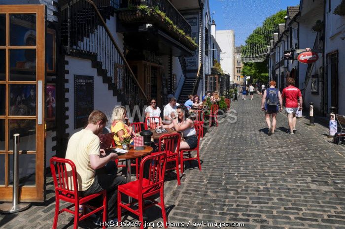 United Kingdom, Scotland, Glasgow, university and popular quarter of East End, Asthon Lane
