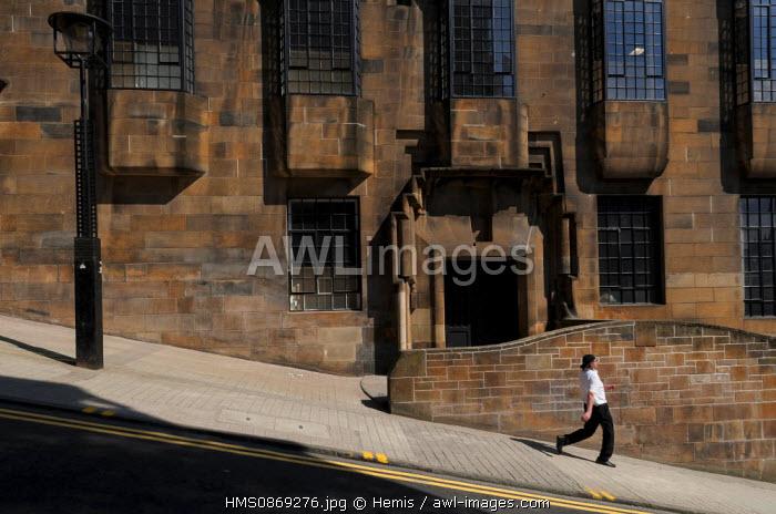 United Kingdom, Scotland, Glasgow, downtown, Glasgow Art School by Mackintosh