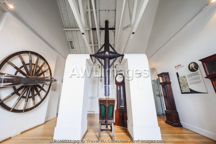 England, London, Greenwich, Royal Observatory, Meridian Building, Historical Exhibits in the Bradley Transit Room