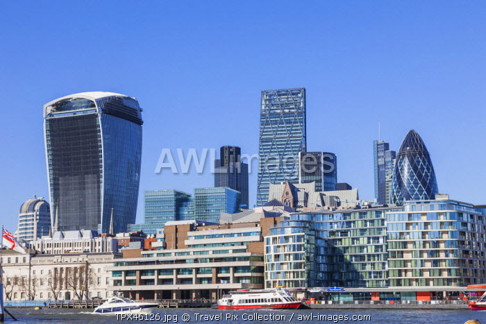 England, London, The City, River Thames and City Skyline