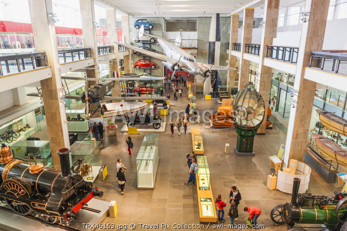 England, London, Kensington, The Science Museum, Interior View of Exhibits