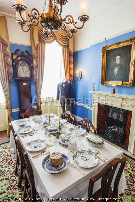 England, London, Charles Dickens Museum, Dining Room Display
