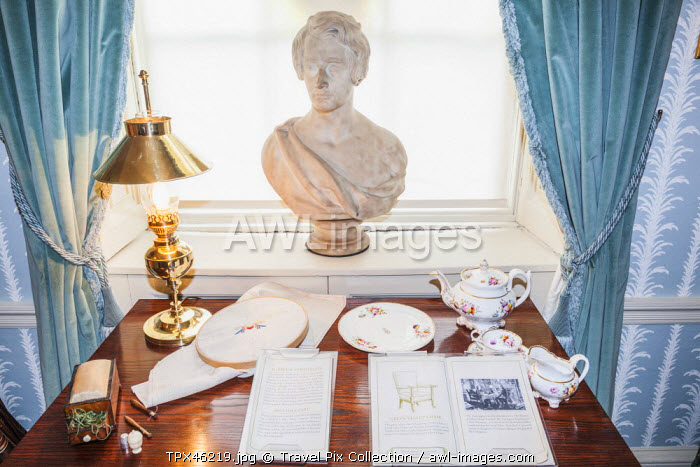 England, London, Charles Dickens Museum, Room with Bust of Charles Dickens