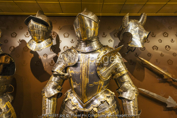 England, London, Tower of London, The White Tower, Display of Armour