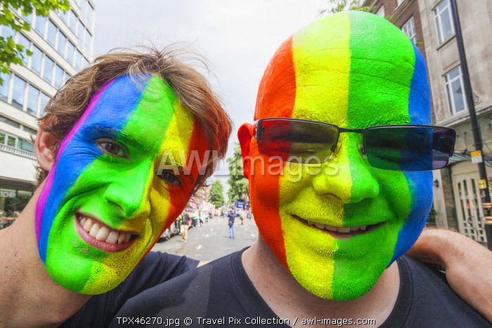 England, London, The Annual Gay Pride Parade, Participants