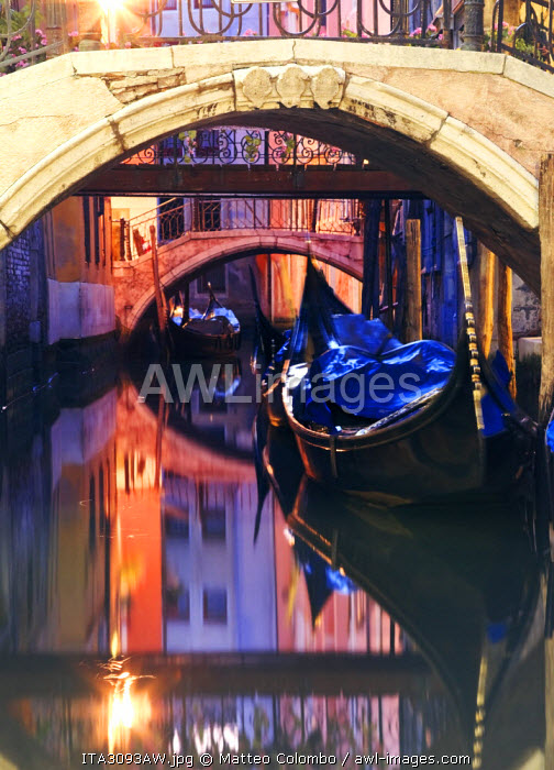 Italy, Venice. View of a canal