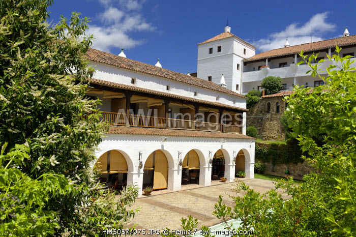 Spain, Extremadura, Guadalupe, Parador of Tourism, the former palace of the Marquis de la Romana �couter