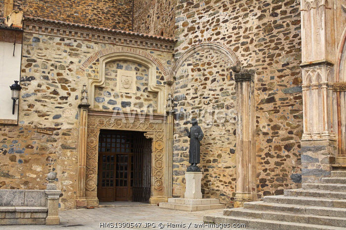 Spain, Extremadura, Guadalupe, Royal Monastery of Santa Maria de Guadalupe listed as World Heritage by UNESCO