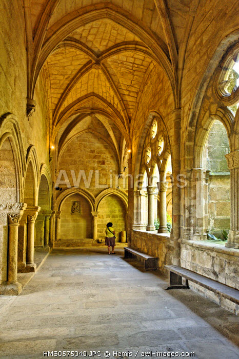 Spain, Extremadura, Plasencia, cathedral Vieja, cloister of the Romanesque and Gothic influence the 14th century