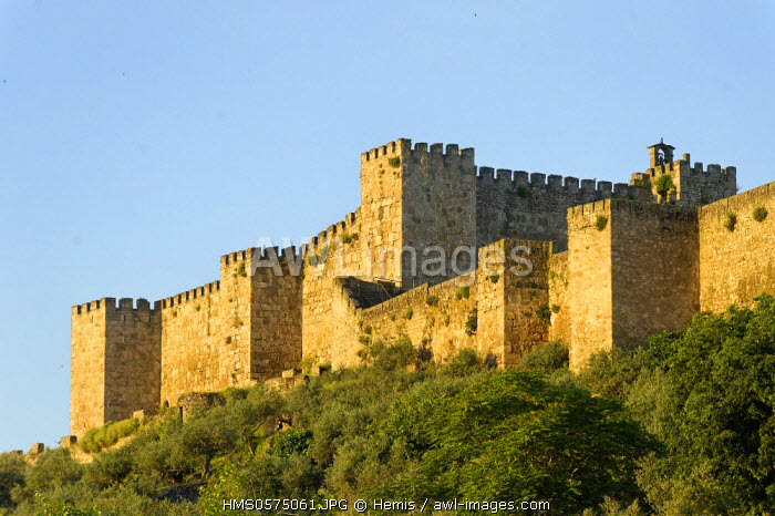 Spain, Extremadura, Trujillo, fortifications Moorish castle built in the 10th century on the highest part of the city