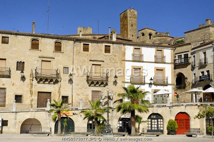 Spain, Extremadura, Trujillo, Plaza Mayor