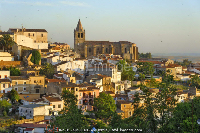 Spain, Extremadura, Caceres, old town listed as World Heritage by UNESCO, panoramic view of the eastern part of the city church of Santiago de los Caballeros