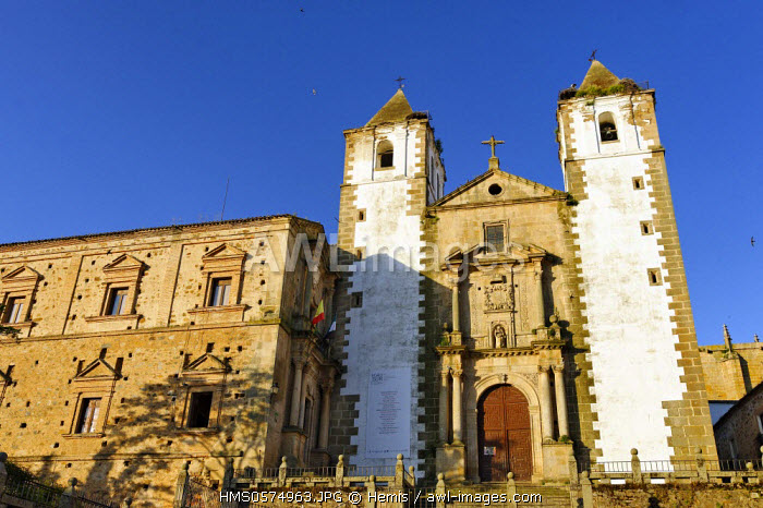 Spain, Extremadura, Caceres, old town listed as World Heritage by UNESCO, San Francisco Javier church and the Society of Jesus College