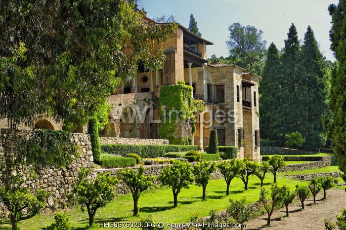 Spain, Extremadura, Cuacos de Yuste, Monastery of Yuste, gardens