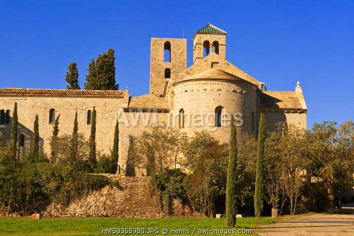 Spain, Catalonia, Sant Fruitos de Bages, the monastery of Sant Benet de Bages