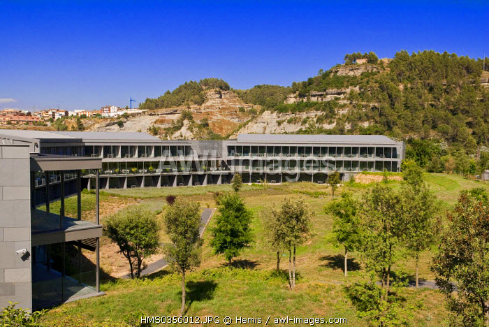 Spain, Catalonia, Sant Fruitos de Bages, the Mon Hotel, located next to the monastery of Sant Benet de Bages