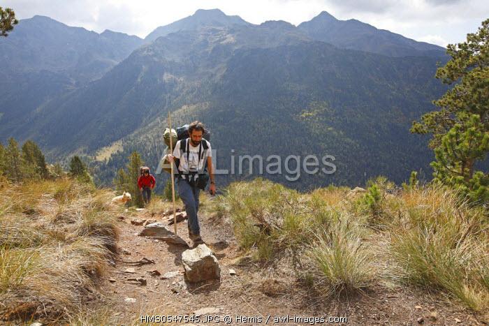 Spain, Catalonia, Natural Park of Alt Pirineu, hiking