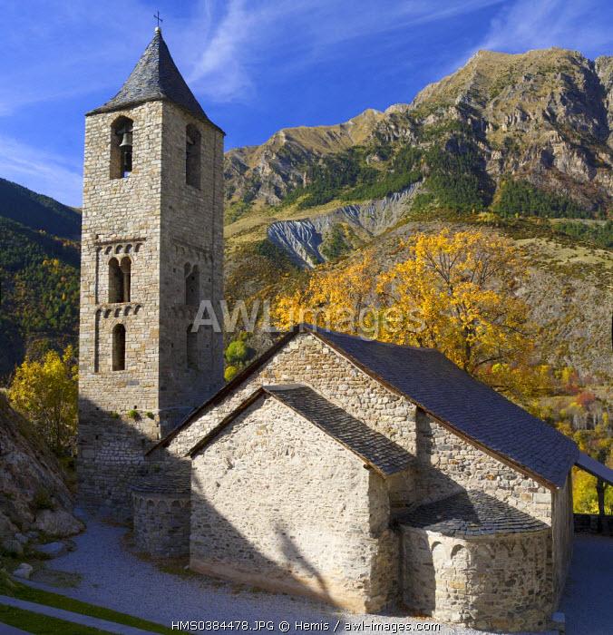 Spain, Catalonia, Boi valley, Boi church