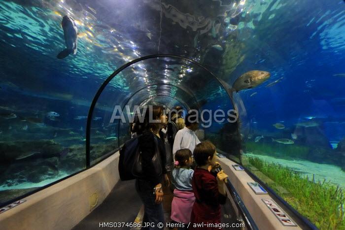 Spain, Catalonia, Barcelona, the aquarium of the Maremagnum Commercial center
