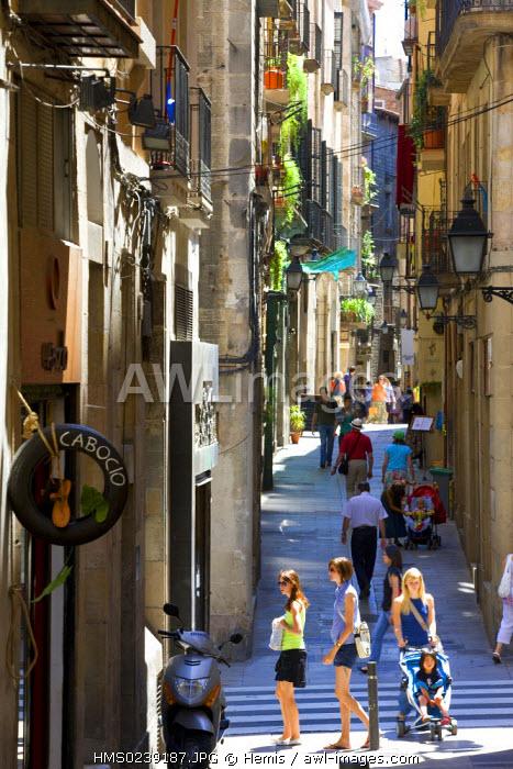 Spain, Catalonia, Barcelona, Placa Sant Just