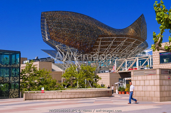 Spain, Catalonia, Barcelona, Port Olympic District, The Fish by Ghery