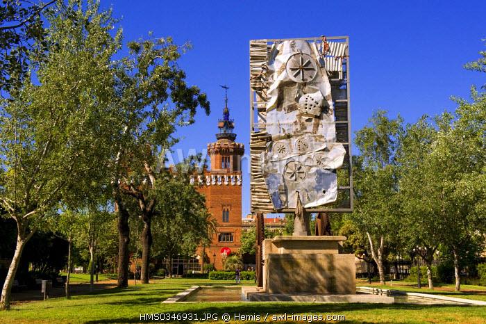 Spain, Catalonia, Barcelona, Parc de la Ciutadella (Ciutadella Park), Museu de Zoologia, Zoology Museum, Liberty style (Catalan Art Nouveau), sculpture