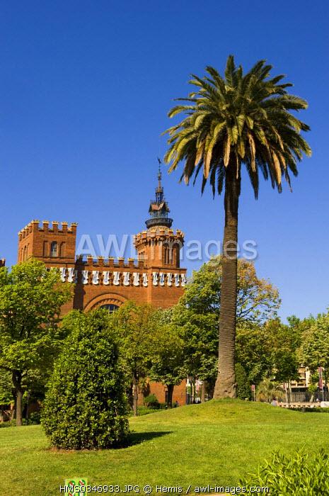 Spain, Catalonia, Barcelona, Parc de la Ciutadella (Ciutadella Park), Museu de Zoologia, Zoology Museum, Liberty style (Catalan Art Nouveau)