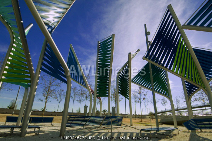 Spain, Catalonia, Barcelona, Forum District, in front of the commercial center Diagonal Mar