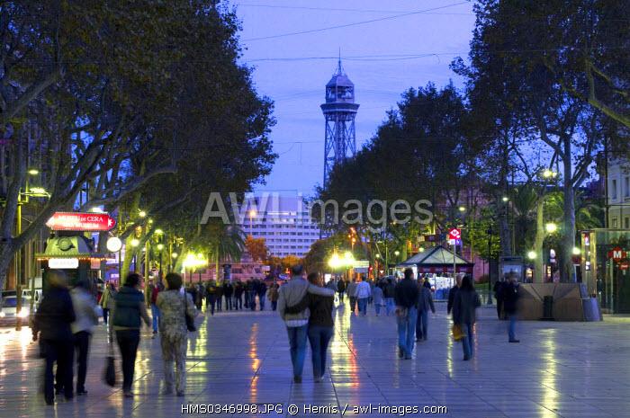 Spain, Catalonia, Barcelona, Las Rambla